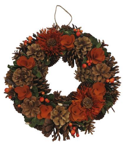 Orange Christmas Wreath