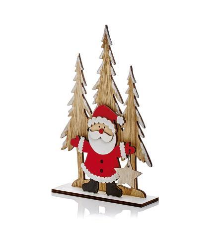 Wooden Table Decoration - Santa