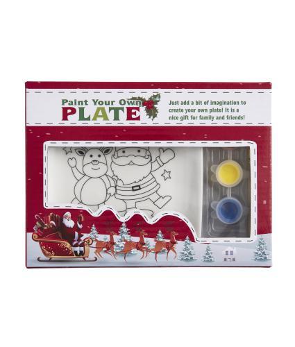 Paint Your Own Ceramic Plate - Santa