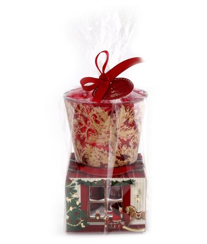 Spiced Apple & Cinnamon Scented Tealight and Holder Gift Set