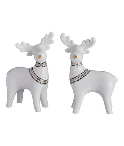 Scandi Reindeer Ornament Pair