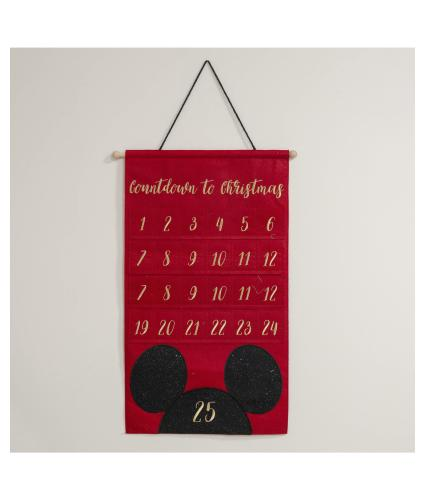 Disney Mickey Mouse Reusable Hanging Advent Calendar