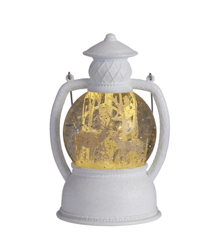 Glitter Snow Globe Lantern - Woodland Stag
