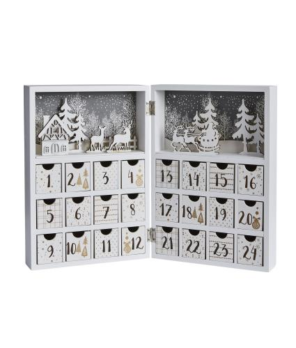 White & Gold Folding Book Style Advent Calendar