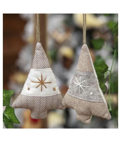 Fabric Christmas Tree Hanging Decoration