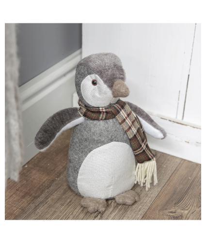 Winter Penguin Doorstop
