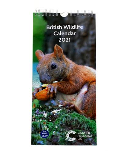 British Wildlife Slim Calendar 2021