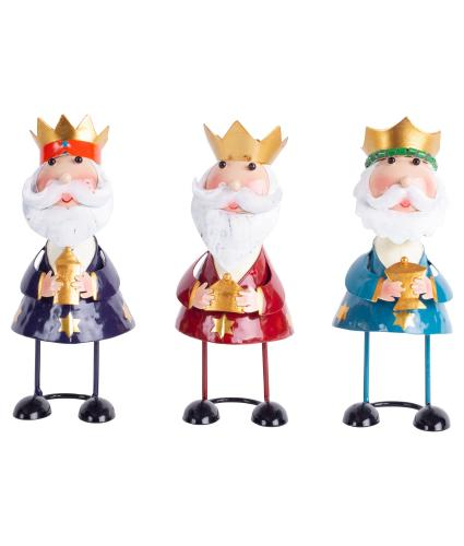 Wobbling Head King Decorations - Set of 3