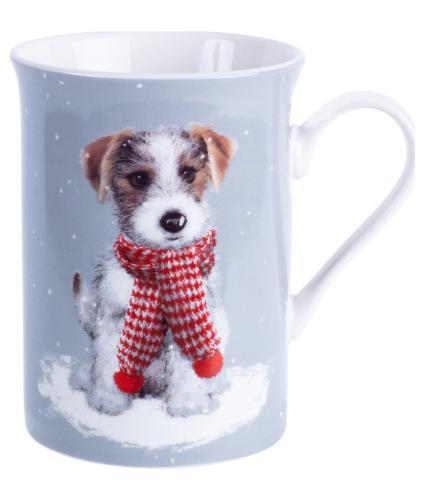 Winter Dog Boxed China Mug