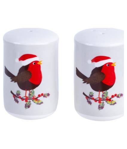 Festive Robin Salt and Pepper Set