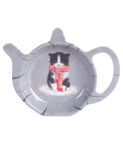 Winter Cat Tea Bag Tidy 2021