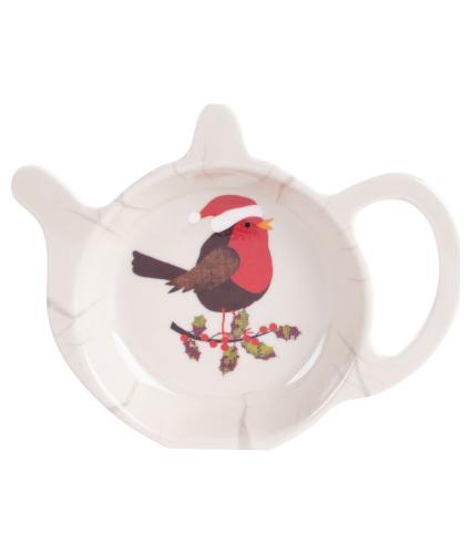 Festive Robin Tea Bag Tidy