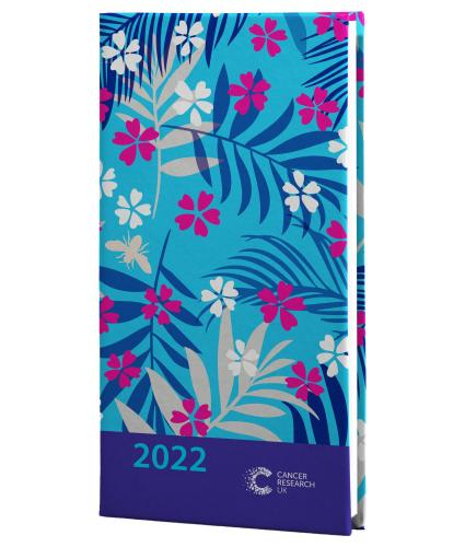 2022 Pocket Diary - Blue Palm Floral