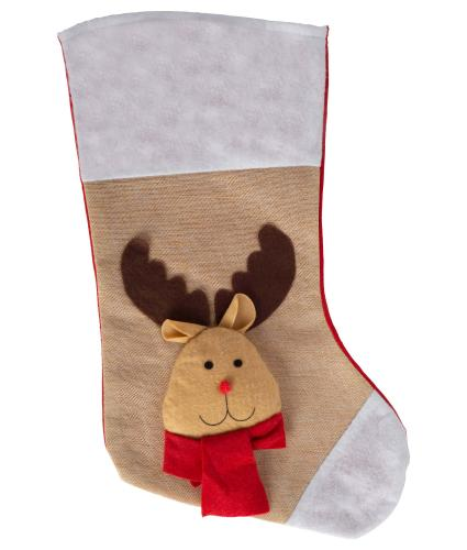 3D Plush Character Stocking - Reindeer