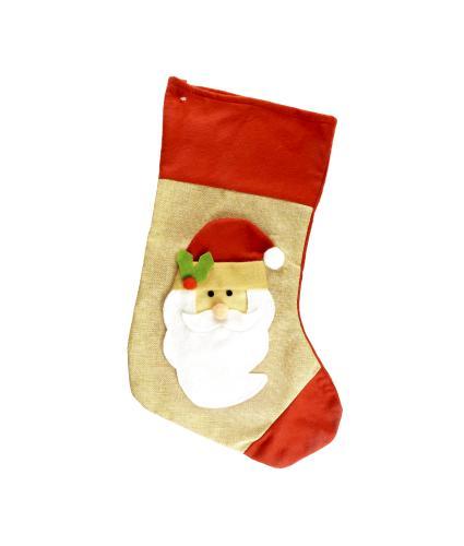 3D Plush Character Stocking - Santa