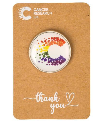 Cancer Research UK Pride Pin Badge