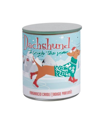 Christmas Dachshund Candle Pot