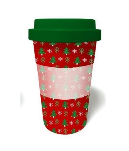 Christmas Tree Bamboo Travel Mug
