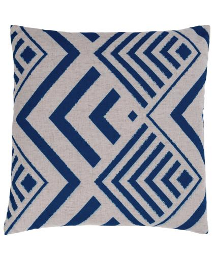 Blue Geo Print Scatter Cushion