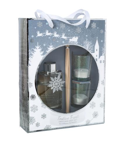 Festive Frost Diffuser & Candle Gift Set