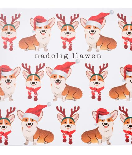 Festive Welsh Corgis Christmas Cards - Pack of 10