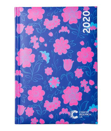Floral Print 2020 Desk Diary