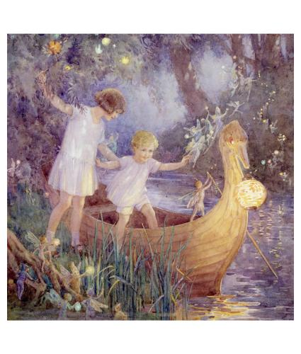 The Boat To Fairyland Greetings Card