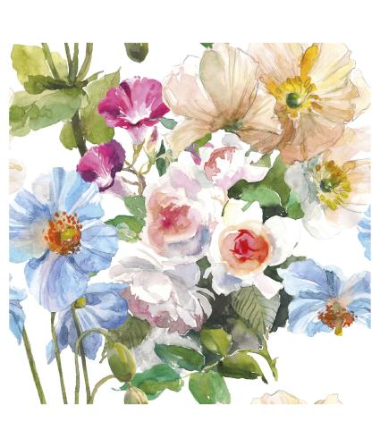 Painterly Floral Greetings Card