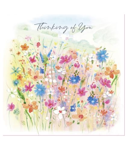 Wild Flowers Thinking Of You Greetings Card