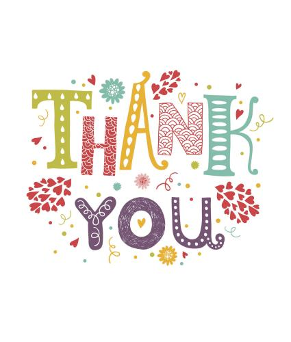 Vibrant Thank You Greetings Card