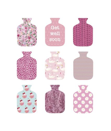Hot Water Bottles Get Well Greetings Card