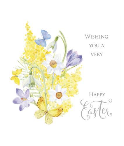 Floral Illustration Easter Cards - Pack of 6