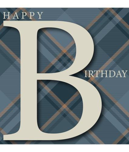 Capital 'B' Birthday Card