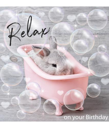 Relaxing Bubbles Birthday Card