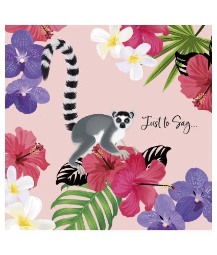 Lovely Lemur Celebration Greetings Card