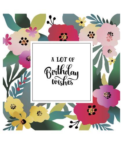 Bright Contemporary Florals Birthday Card