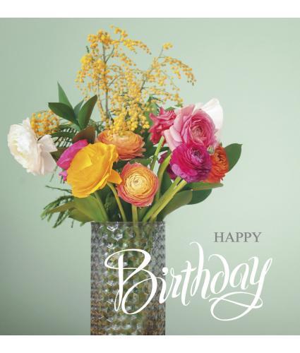 Vibrant Bouquet Birthday Card