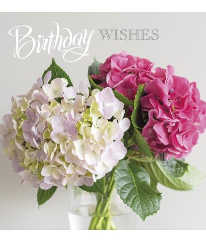 Hydrangea Posy Birthday Card