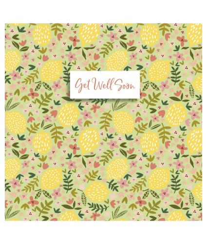Lemon Get Well Greetings Card