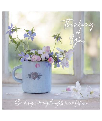 Caring Thoughts Thinking of You Sympathy Card
