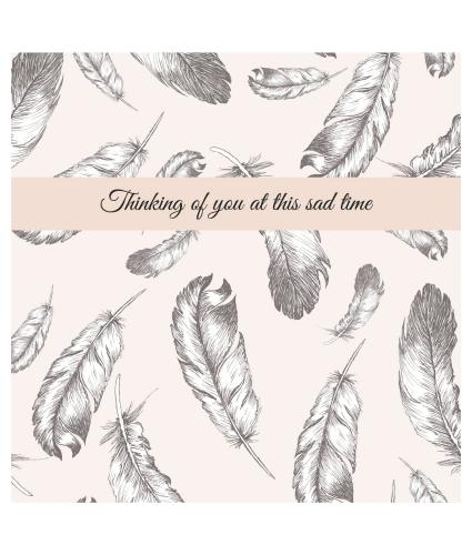 Floating Feathers Sympathy Card