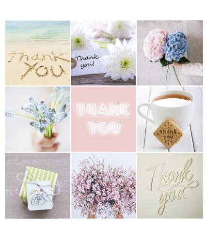 Montage Thank You Greetings Card
