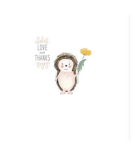 Grateful Hedgehog Thank You Greetings Card
