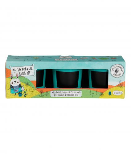Kids Vegetable Gardening Pots & Seeds Set