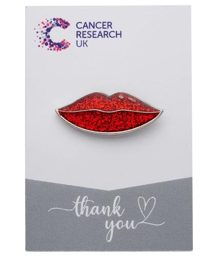 Glitter Lips Pin Badge