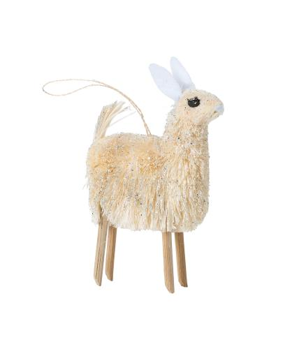 Glitter Llama Christmas Tree Decoration