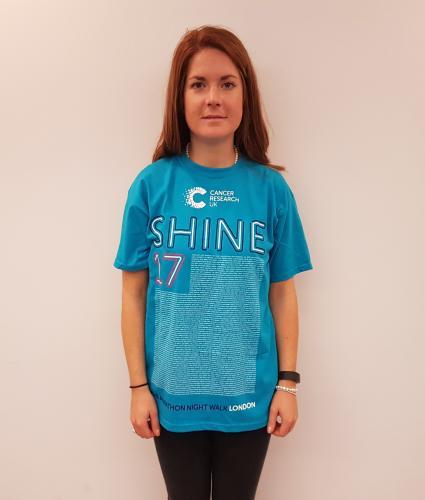 Shine Night Walk Half Marathon Participant T-shirt