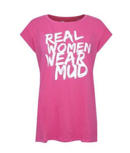 Pretty Muddy 'Real Women Wear Mud' Slogan T-shirt
