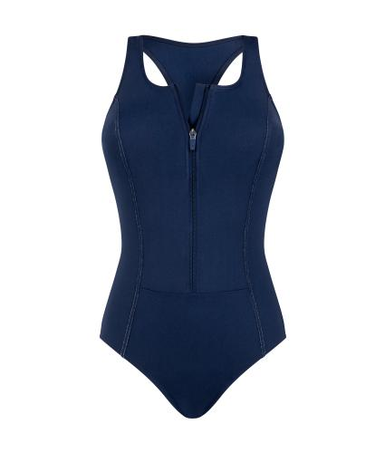 Amoena Key West Pocketed Swimsuit in Dark Navy