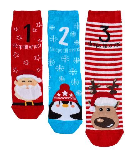 Kids Christmas Socks - Pack of 3